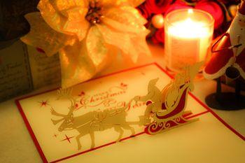 サンタクロースのクリスマスカードの写真