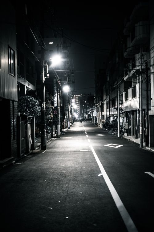 暗い道の写真
