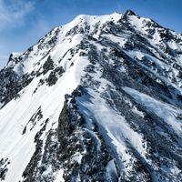 奥穂高岳へ続く道のり(飛騨山脈)の写真