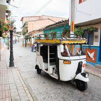 南米のカラフルな街並みの写真