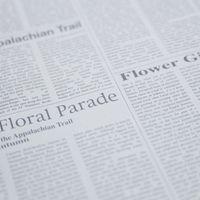 英語の新聞の写真