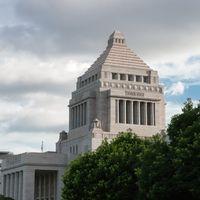 国会議事堂横の写真