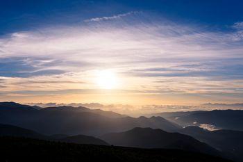 乗鞍岳に差す光(飛騨山脈)の写真