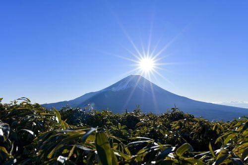 富士山頂から昇る太陽(竜ヶ岳)