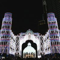 美しい神戸ルミナリエの電飾の写真