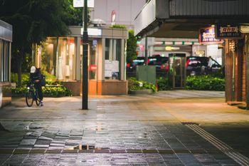雨に濡れた街の写真