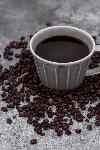 コーヒー豆で飾る珈琲の写真