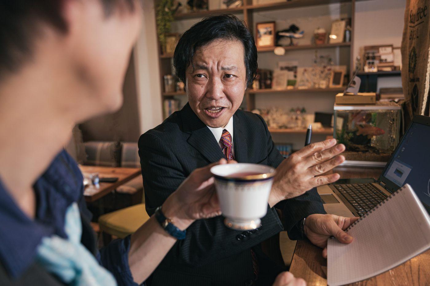 珈琲飲んでたらいきなり営業されるの写真