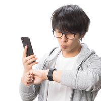 Apple Watchの初期設定中の写真