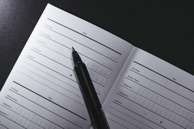 パスワード管理帳の写真
