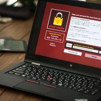 重要なデータの入ったノートパソコンがランサムウェアに感染の写真