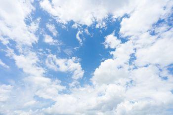 青空と雲空の写真