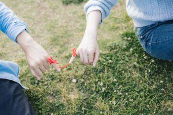 私たち赤い糸でつながりましたの写真