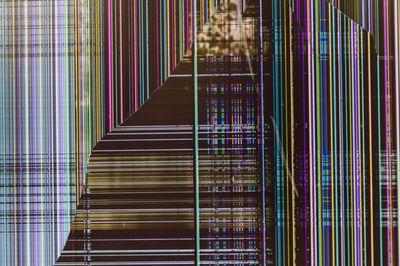破損したモニターのテクスチャの写真